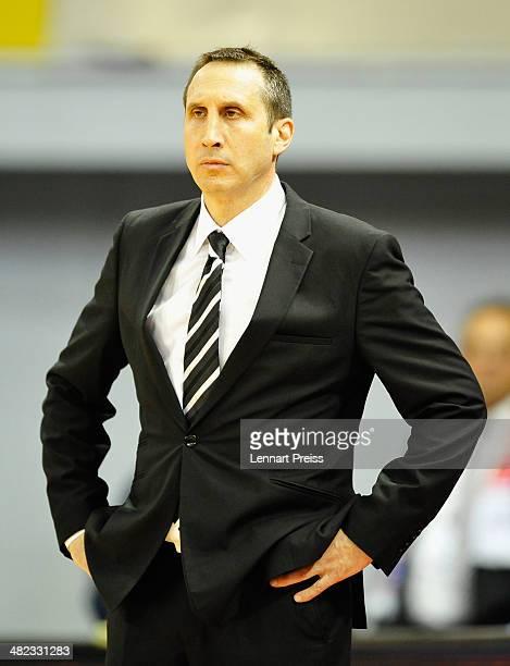 David Blatt head coach of Tel Aviv reacts during the Turkish Airlines Euroleague Top 16 Round 13 Group F basketball match between FC Bayern Muenchen...