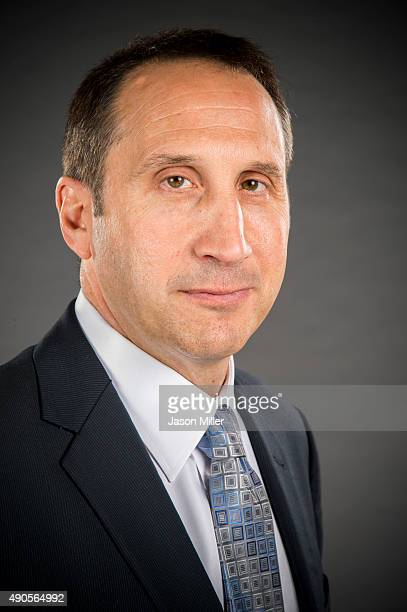 David Blatt of the Cleveland Cavaliers during the Cleveland Cavaliers media day at Cleveland Clinic Courts on September 28 2015 in Independence Ohio