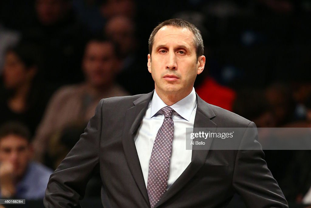 <a gi-track='captionPersonalityLinkClicked' href=/galleries/search?phrase=David+Blatt&family=editorial&specificpeople=836616 ng-click='$event.stopPropagation()'>David Blatt</a> of the Cleveland Cavaliers looks on against the Brooklyn Nets during their game at Barclays Center on December 8, 2014 in the Brooklyn borough of New York City.