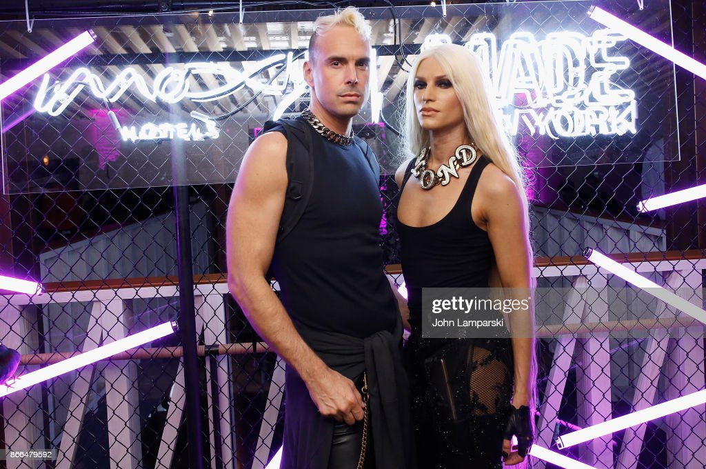 David Blond and Phillipe Blond attend Moxy Times Square 'Coming Out' Party at Moxy Times Square on October 25, 2017 in New York City.