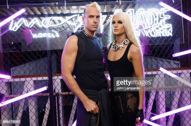 David Blond and Phillipe Blond attend Moxy Times Square 'Coming Out' Party at Moxy Times Square on October 25 2017 in New York City