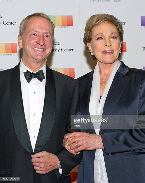 David Bohnett and Julie Andrews arrive for the formal Artist's Dinner honoring the recipients of the 38th Annual Kennedy Center Honors hosted by...