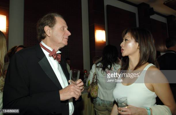 David Bonderman and Lauren Sloane during 2006 Cannes Film Festival 'Platoon' Cocktail Party at Hotel Majestic in Cannes France