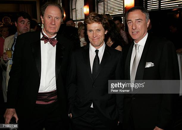 David Bonderman Chair of Texas Pacific actor Willem Dafoe and Harry E Sloan Chairman and CEO of MGM attend the MGM Platoon Party at the Majestic...