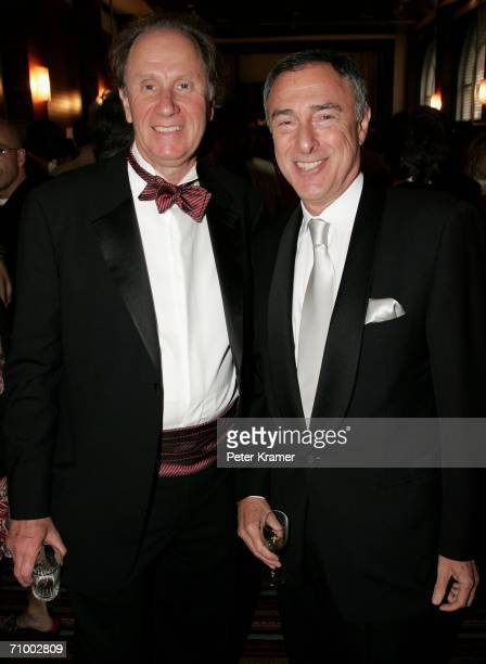 David Bonderman Chair of Texas Pacific and Harry E Sloan Chairman and CEO of MGM attend the MGM Platoon Party at the Majestic Hotel during the 59th...
