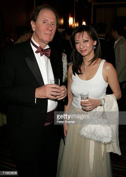 David Bonderman Chair of Texas Pacific and wife of Harry E Sloan Chairman and CEO of MGM attend the MGM Platoon Party at the Majestic Hotel during...