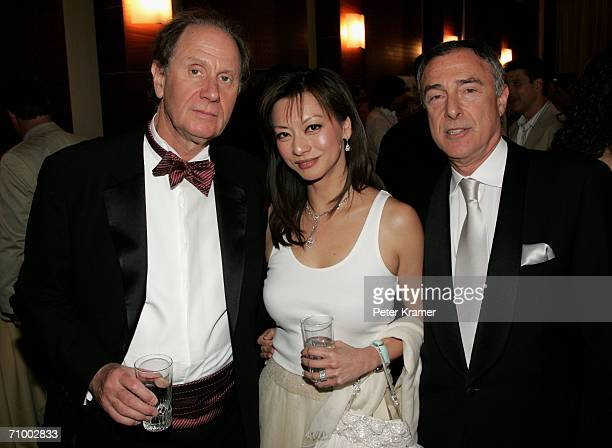 David Bonderman Chair of Texas Pacific Harry E Sloan Chairman and CEO of MGM and Sloan's wife attend the MGM Platoon Party at the Majestic Hotel...