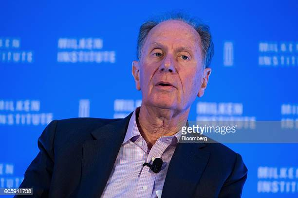 David Bonderman cofounder and chairman of TPG Holdings LP speaks at the Milken Institute Asia Summit in Singapore on Friday Sept 16 2016 Chief...