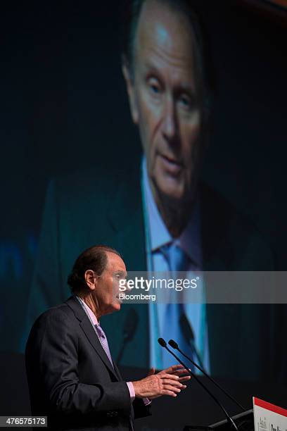David Bonderman founding partner of TPG Capital speaks at the Asian Leadership Conference in Seoul South Korea on Tuesday March 4 2014 The conference...