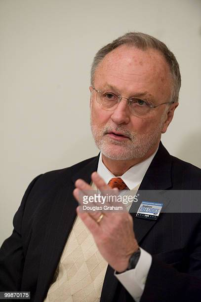 David Bonior during an interview at Roll Call office at 50 F street in WashingtonDC February 13 2009