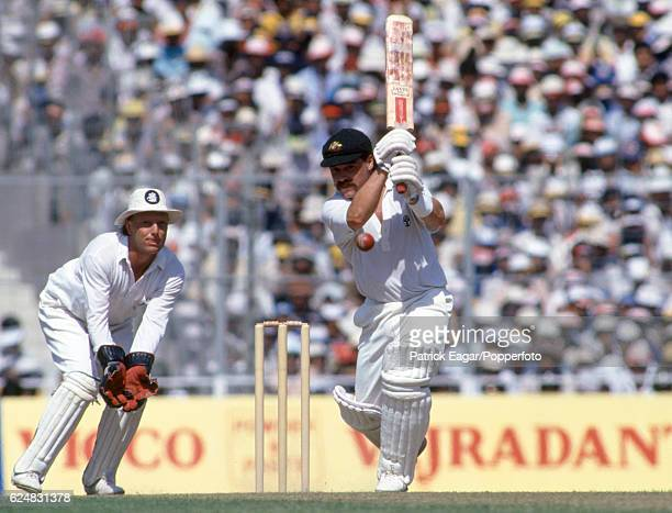David Boon batting for Australia during his innings of 75 in the World Cup Final between Australia and England at Eden Gardens Calcutta India 8th...