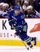 David Booth of the Vancouver Canucks skates during NHL action against the Winnipeg Jets on December 22 2013 at Rogers Arena in Vancouver British...