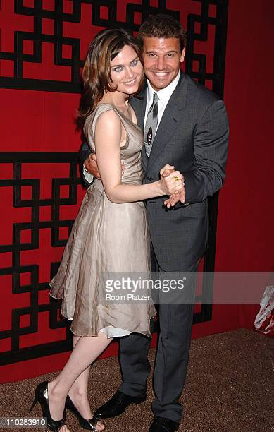 David Boreanaz and Emily Deschanel during Fox 2006 Upfront at Guastavino's in New York City New York United States