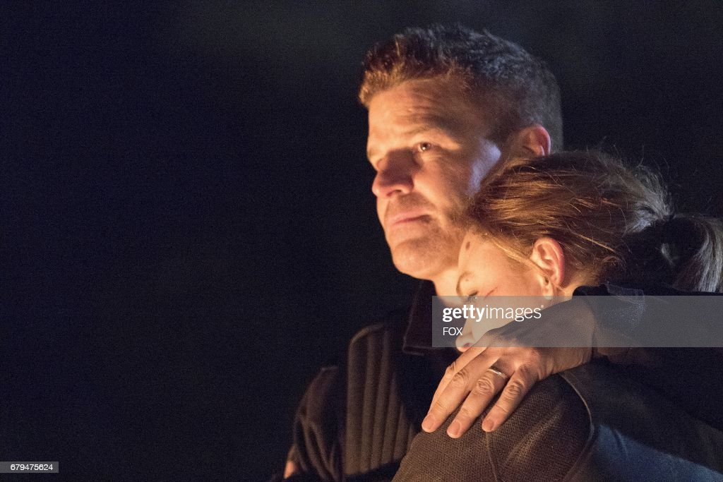 David Boreanaz and Emily Deschanel in 'The Final Chapter: The End in the End' series finale episode of BONES airing Tuesday, March 28 (9:01-10:00 PM ET/PT) on Fox.