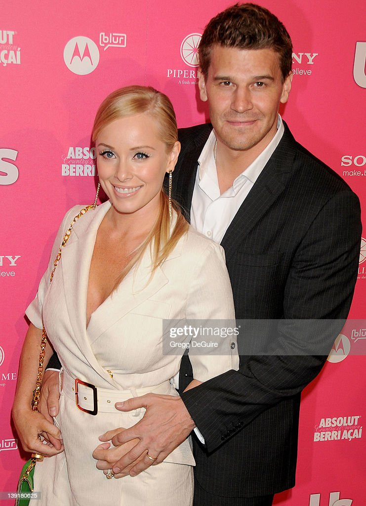 David boreanaz and wife jaime bergman arrive at the us weekly hot