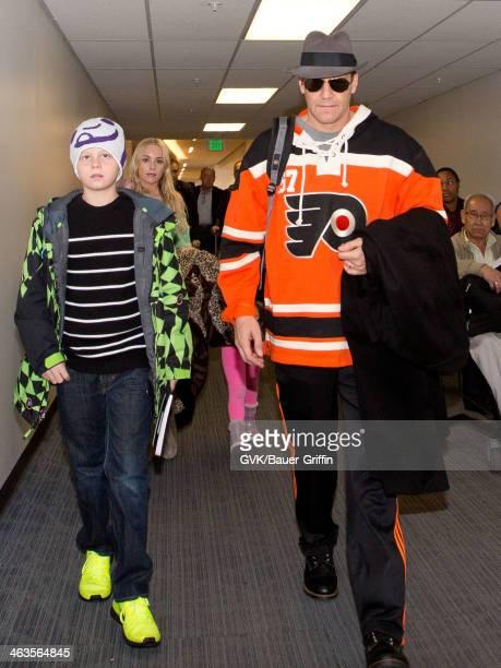 David Boreanaz and wife Jaime Bergman with their son Jaden Boreanaz are seen on January 18 2014 in Los Angeles California