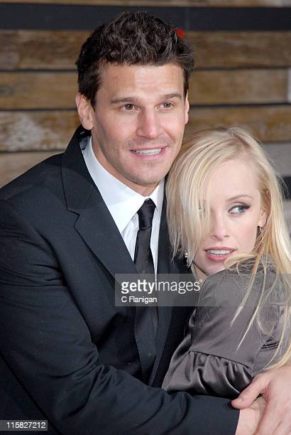 David Boreanaz and wife Jamie Bergman during EMA E Golden Green Party at 9900 Wilshire Blvd in Beverly Hills California United States