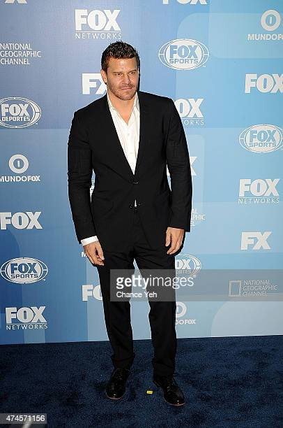 David Boreanaz attends 2015 FOX Programming Presentation at Wollman Rink Central Park on May 11 2015 in New York City
