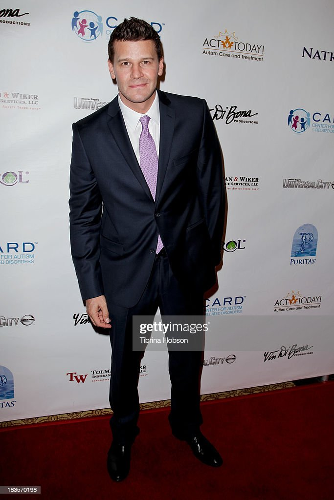 David Boreanaz attends the 8th annual Denim & Diamonds for Autism at Fours Season Hotel on October 6, 2013 in Westlake Village, California.