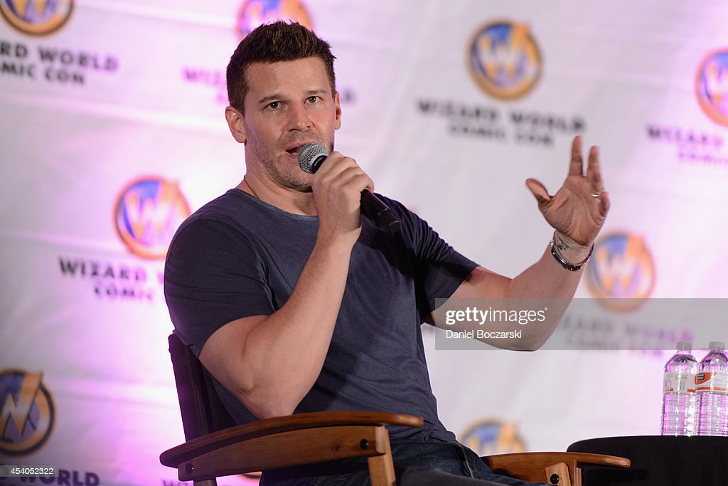 David Boreanaz attends Wizard World Chicago Comic Con 2014 at Donald E. Stephens Convention Center on August 23, 2014 in Chicago, Illinois.