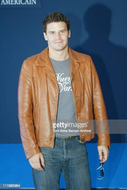 David Boreanaz during Deauville 2002 'I'm with Lucy' Photocall at CID Deauville in Deauville France