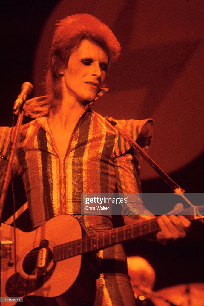 David Bowie 1973 final show of Ziggy Stardust and the Spiders from Mars Hammersmith Odeon London in Hammersmith United Kingdom