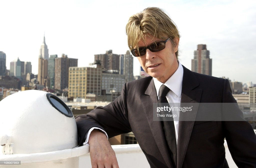David Bowie, aboard the QE2, arriving in New York from England