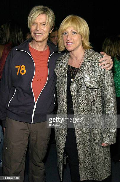 David Bowie and Edie Falco during 2nd Annual Audi and Conde Nast Never Follow Campaign Honoring the Careers of Four Innovators at The Manhattan...