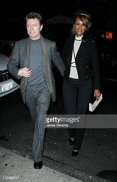 David Bowie and Iman during Celebrity Sightings at Philippe Chow in New York City October 18 2006 at Philippe Chow in New York City New York United...
