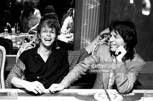 David Bowie and Mick Jagger London 1987