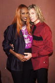 David Bowie and wife Iman during David Bowie Concert at Roseland at Roseland in New York City New York United States