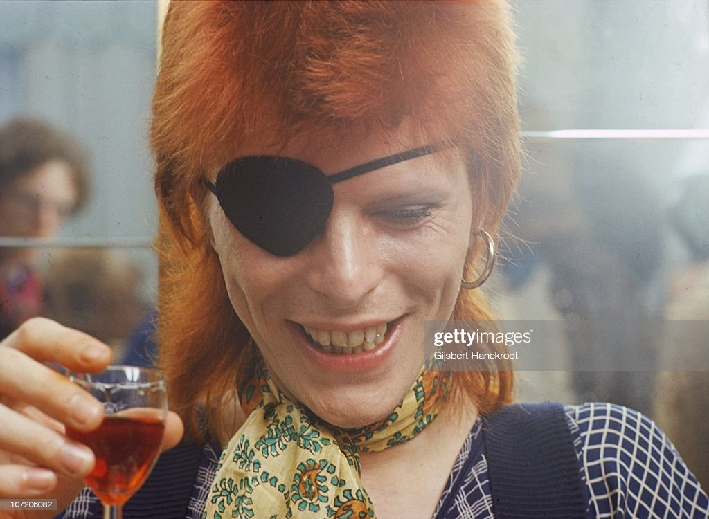 David Bowie appears at a press conference at the Amstel Hotel on 7th February 1974 in Amsterdam Netherlands