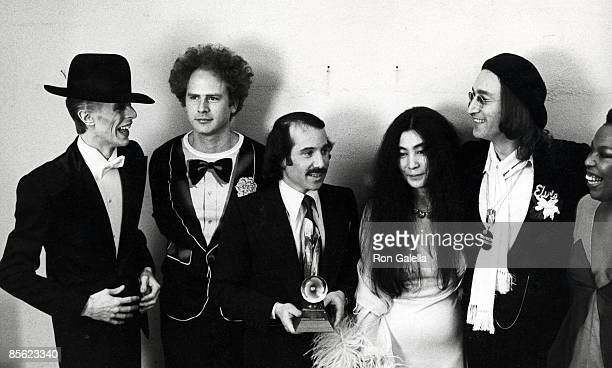 David Bowie Art Garfunkel Paul Simon Yoko Ono and John Lennon