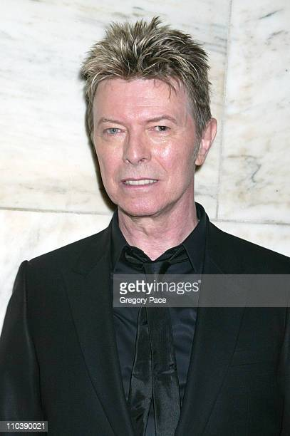 David Bowie during 2005 CFDA Fashion Awards Inside at New York Public Library in New York City New York United States
