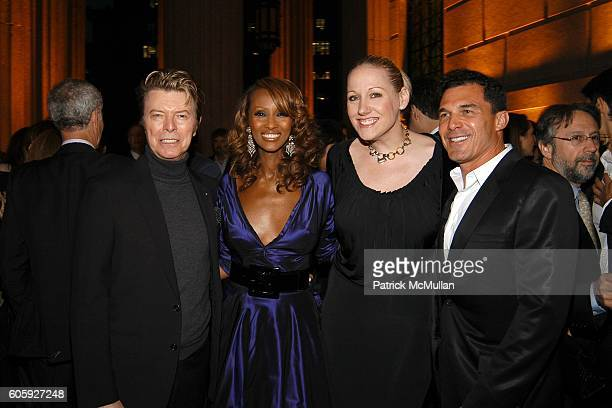 David Bowie Iman Amy Sacco and Andre Balazs attend VANITY FAIR Tribeca Film Festival Party hosted by Graydon Carter and Robert DeNiro at The State...