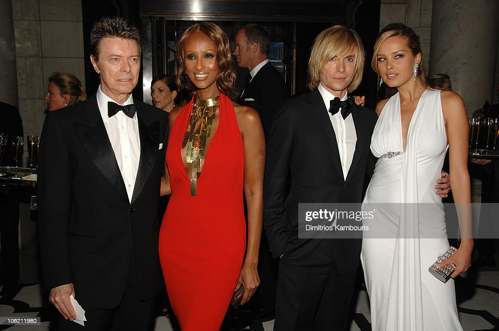 David Bowie Iman Marc Bouwer and Petra Nemcova during 2007 CFDA Fashion Awards Inside at The New York Public Library in New York City New York United...