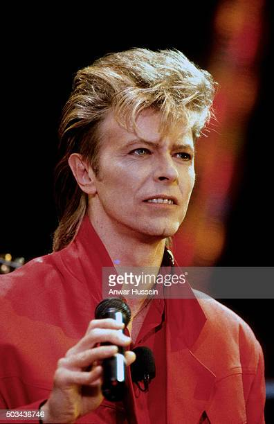 David Bowie in concert on June 01 1987 in London England
