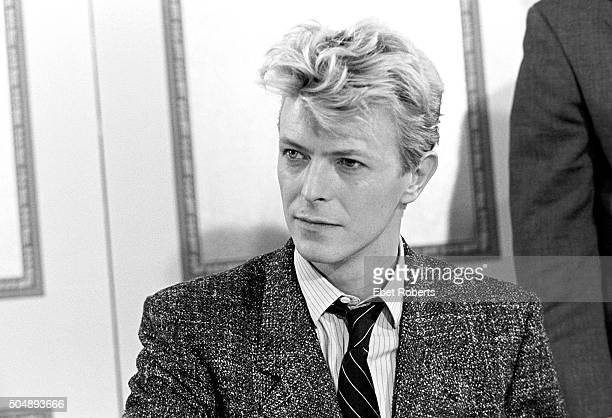 David Bowie in New York City on January 27 1983