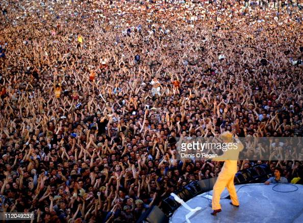 David Bowie performing at the Milton Keynes Bowl 1983