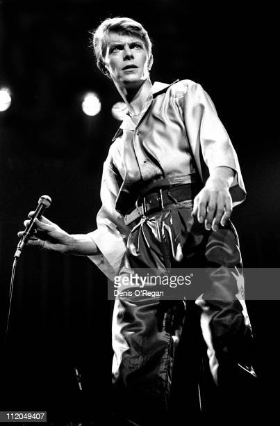 David Bowie performing on stage at Newcastle City Hall June 1978