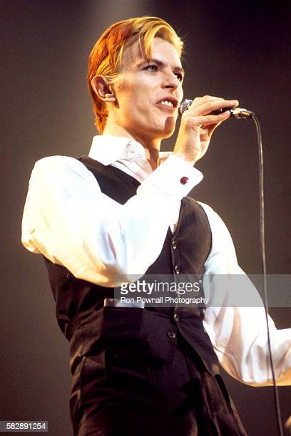 David Bowie performs at Boston Garden March 17 1976