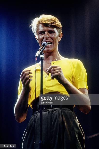 David Bowie performs at the Fresno Convention Center in Fresno California on April 2 1978