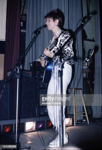 David Bowie performs on stage as Ziggy Stardust at Friars Club in Aylesbury 15th July 1972