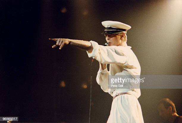David Bowie performs on stage at Earls Court Arena on August 29th 1978 in London United Kingdom