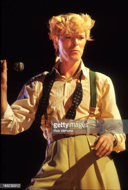 David Bowie performs on stage on the Serious Moonlight Tour at Feijenoord Stadion de Kuip Rotterdam Netherlands 25th June 1983