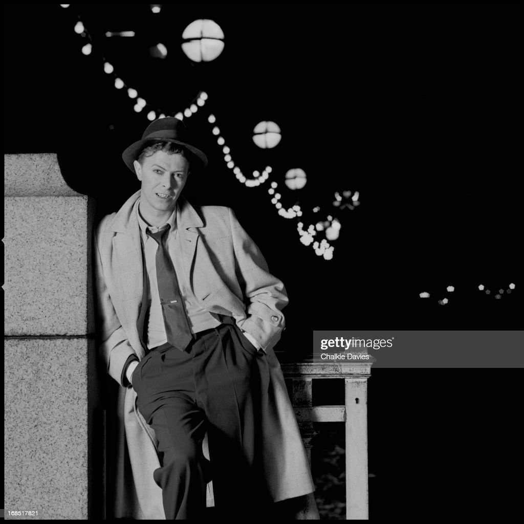 David Bowie photographed for the cover of his single 'Absolute Beginners', London 1986.