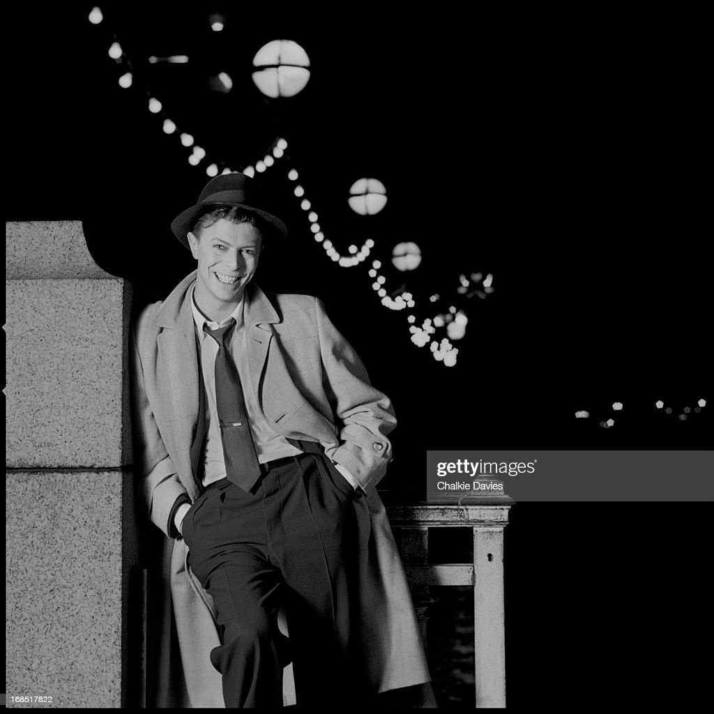 David Bowie photographed for the cover of his single 'Absolute Beginners' London 1986