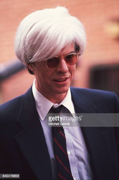 David Bowie portrays Andy Warhol in the 1996 motion picture Basquiat directed by artist Julian Schnabel