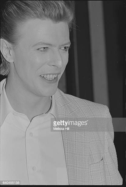 David Bowie smiles at the opening of The Elephant Man at Booth Theatre in New York Bowie took over the role of John Merrick for the run of the play...