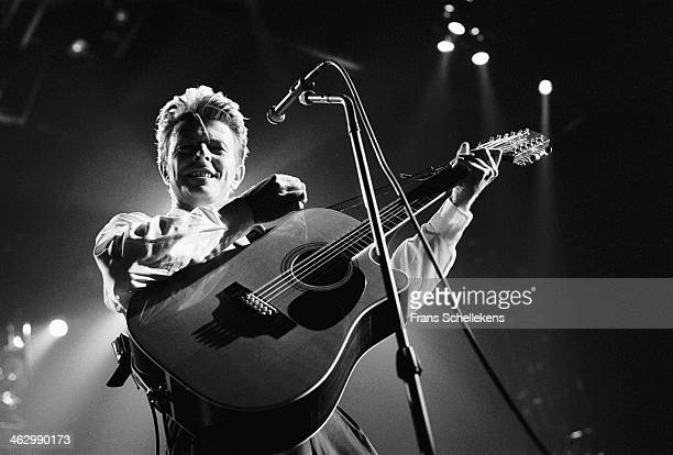 David Bowie vocal performs at the Ahoy hal in Rotterdam the Netherlands on 30th March 1990